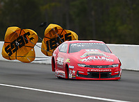 Mar 16, 2019; Gainesville, FL, USA; NHRA pro stock driver Erica Enders during qualifying for the Gatornationals at Gainesville Raceway. Mandatory Credit: Mark J. Rebilas-USA TODAY Sports