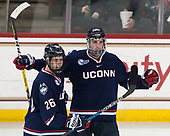Philip Nyberg (UConn - 26), Wyatt Newpower (UConn - 20) - The Boston College Eagles defeated the visiting UConn Huskies 2-1 on Tuesday, January 24, 2017, at Kelley Rink in Conte Forum in Chestnut Hill, Massachusetts.
