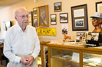 NWA Democrat-Gazette/JASON IVESTER <br /> Museum executive director Elza Tucker describes on Thursday, Sept. 17, 2015, some of the artifacts on display inside the Lowell Historical Museum.