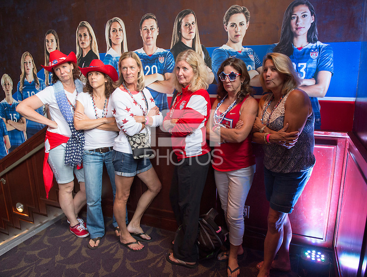 Vancouver, Canada - July 4, 2015:  US Soccer held a fan headquarters at the Commodore Ballroom before the FIFA Women's World Cup Final at BC Place.