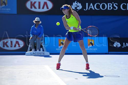 22.01.2016. Melbourne Park, Melbourne, Australia, Australian Open Tennis Championships.  Alize Cornet (FRA)