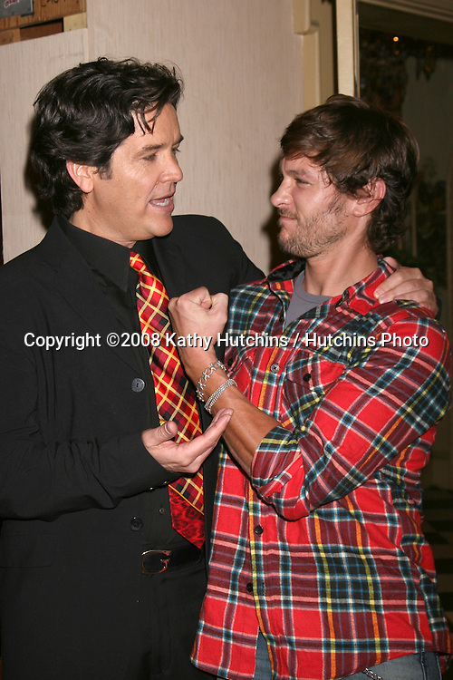 Michael Damian & Michael Graziadei  on the set of THe Young & The Restless  celebrating  Jeanne Cooper's 80th Birthday in Los Angeles, CA on.October 24, 2008.©2008 Kathy Hutchins / Hutchins Photo...                .
