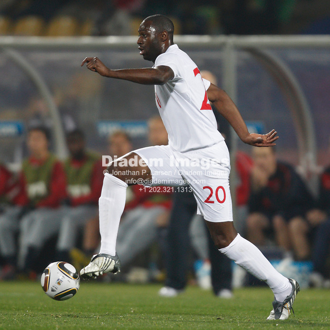 RUSTENBURG, SOUTH AFRICA - JUNE 12:  Ledley King of England in action during a  2010 FIFA World Cup soccer match the United States June 12, 2010 in Rustenburg, South Africa.  NO mobile use.  Editorial ONLY. (Photograph by Jonathan P. Larsen)