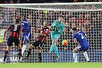 Chelsea's Thibaut Courtois misses the ball that leads to Bournemouth's opening goal<br /> <br /> Barclays Premier League - Chelsea v AFC Bournemouth - Stamford Bridge - England - 5th December 2015 - Picture David Klein/Sportimage