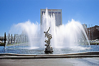Las Vegas: Ceasar's Palace, Statue, Fountain. Photo '79.