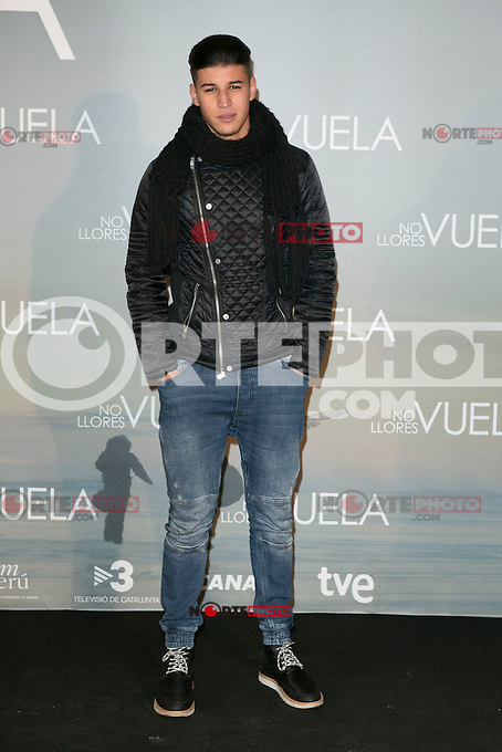 ADIL KOUKOUH attends Claudia&acute;s Llosa &quot;No Llores Vuela&quot; movie premiere at Callao Cinema, Madrid,  Spain. January 21, 2015.(ALTERPHOTOS/)Carlos Dafonte) /NortePhoto<br />