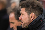 Coach Diego Simeone of Atletico de Madrid on the bench prior to the Copa del Rey 2016-17 Quarter-final match between Atletico de Madrid and SD Eibar at the Vicente Calderón Stadium on 19 January 2017 in Madrid, Spain. Photo by Diego Gonzalez Souto / Power Sport Images