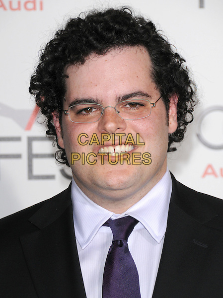 """JOSH GAD.The AFI Fest 2010 Opening Gala - """"Love & Other Drugs"""" World Premiere held at The Grauman's Chinese Theatre in Hollywood, California, USA..November 4th, 2010                                                                                .headshot portrait black white glasses teeth smiling.CAP/RKE/DVS.©DVS/RockinExposures/Capital Pictures."""