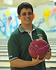 Chris Vietri of Holy Trinity High School poses for a portrait after the Nassau-Suffolk CHSAA boys' bowling individual championship at AMF Babylon Lanes on Thursday, Feb. 11, 2016. He won the league title with a 751 three game series and had a high game of 289.