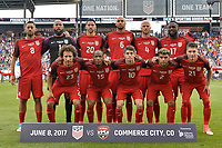 Commerce City, CO - Thursday June 08, 2017: The USMNT starting eleven vs Trinidad & Tobago during their 2018 FIFA World Cup Qualifying Final Round match versus Trinidad & Tobago at Dick's Sporting Goods Park.