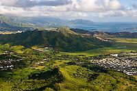 Kaneohe Bay & the Windward (East) side of Oahu, Hawaii from Mt. Olomana
