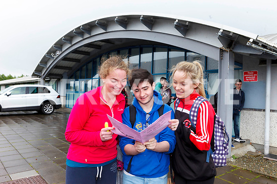 PHEW: First exam English Higher Level Paper 1 is over with for Róisín Lynch, Ryan O'Sullivan and Tracy O'Keeffe, students from Mercy Mounthawk Secondary School, on Wednesday afternoon.
