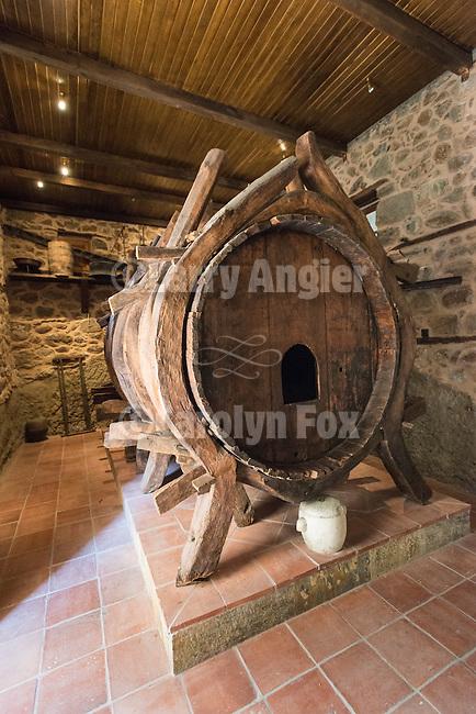 10,000 liter wine barrel, Verlaam Monastery, Meteora, Greece