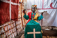 Healer Martinho Marcos (50), also known as Doctor Yobo, during the spiritual ceremony in town of Manje. He is also a priest of the Zion Church and claims to be possessed by the spirit of Lazarus from the Bible.