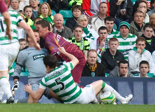 Stramash in the box as Gary Caldwell pulls down John Sutton