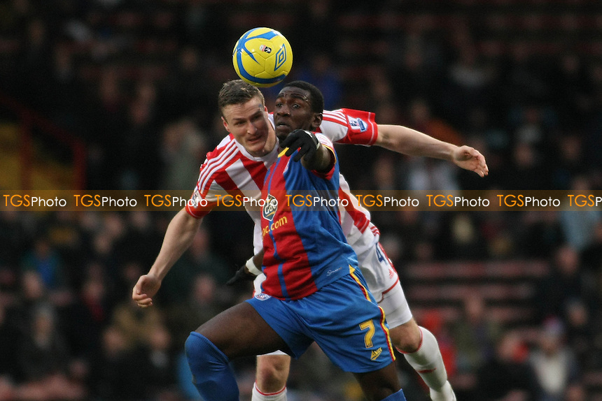 Robert Huth Of Stoke City and Yannick Bolasie of Crystal Palace - Crystal Palace vs Stoke City - FA Challenge Cup 3rd Round Football at Selhurst Park - 05/01/13 - MANDATORY CREDIT: George Phillipou/TGSPHOTO - Self billing applies where appropriate - 0845 094 6026 - contact@tgsphoto.co.uk - NO UNPAID USE.