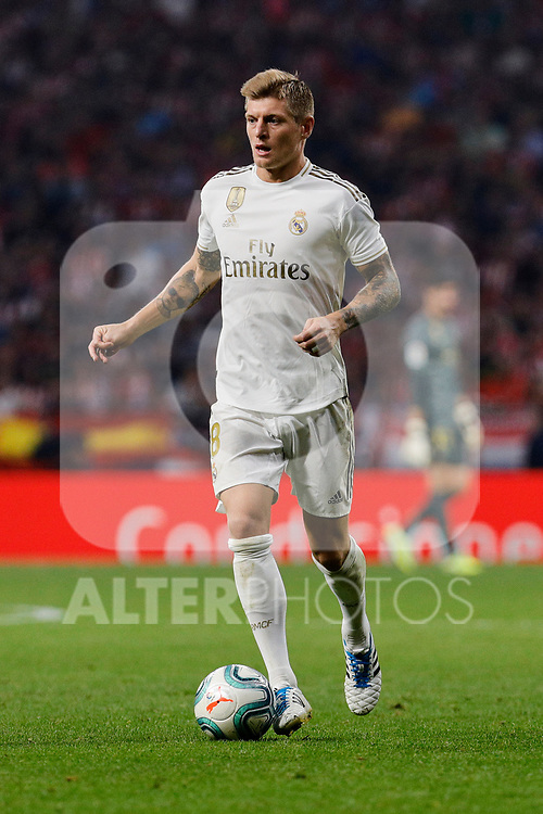 Toni Kroos of Real Madrid during La Liga match between Atletico de Madrid and Real Madrid at Wanda Metropolitano Stadium in Madrid, Spain. September 28, 2019. (ALTERPHOTOS/A. Perez Meca)