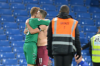 Robert Snodgrass of West Ham United and David Martin of West Ham United At the Final Whistle Applause Fan's during Chelsea vs West Ham United, Premier League Football at Stamford Bridge on 30th November 2019
