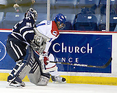 Matt DiGirolamo (UNH - 30), Joseph Pendenza (Lowell - 14) - The visiting University of New Hampshire Wildcats defeated the University of Massachusetts-Lowell River Hawks 3-0 on Thursday, December 2, 2010, at Tsongas Arena in Lowell, Massachusetts.