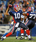 28 August 2008:  Buffalo Bills' quarterback Gibran Hamdan makes a forward pass against the Detroit Lions at Ralph Wilson Stadium in Orchard Park, NY. The Lions defeated the Bills 14-6 in their fourth and final pre-season game...Mandatory Photo Credit: Ed Wolfstein Photo