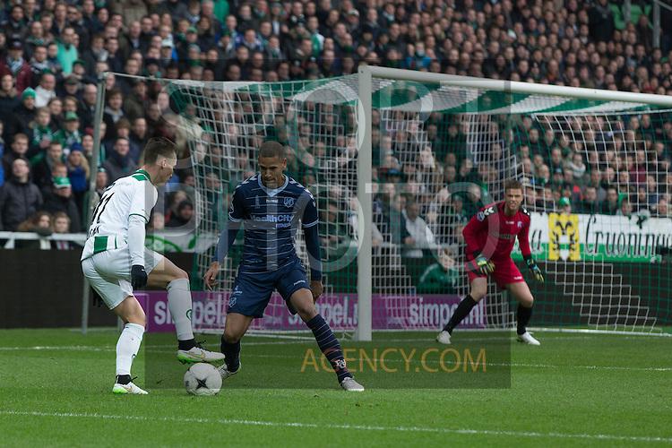 (L-R),Utrecht, Albert Rusnak of FC Groningen,