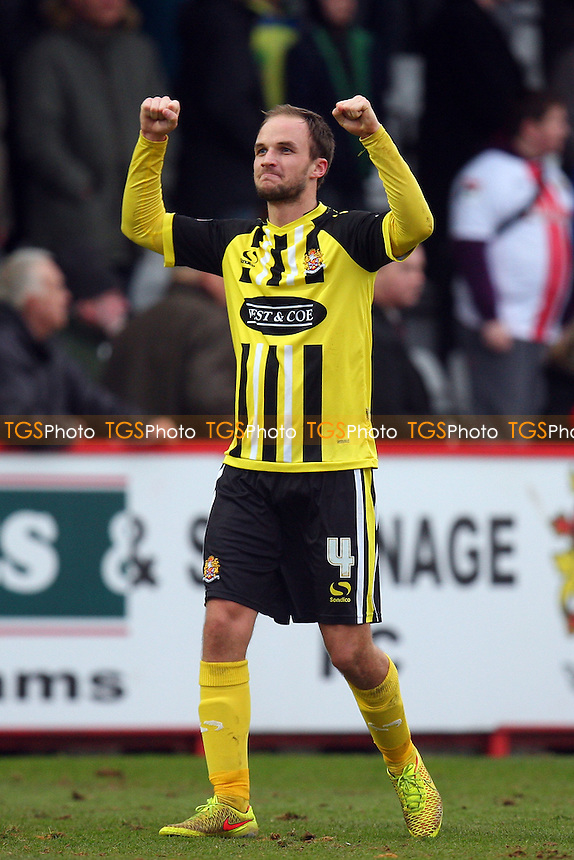 Scott Doe of Dagenham and Redbridge celebrates the victory - Stevenage vs Dagenham and Redbridge - Sky Bet League Two football at he Lamex Stadium on 21/03/15 - MANDATORY CREDIT: Dave Simpson/TGSPHOTO - Self billing applies where appropriate - 0845 094 6026 - contact@tgsphoto.co.uk - NO UNPAID USE