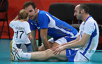 12.08.2012. London, England. Italian Players Celebrate After defeating Bulgaria in the mens  Volleyball Bronze Medal Match London 2012 Olympic Games