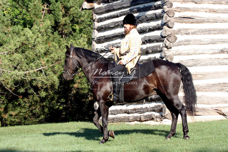 A Russian Cossack horseback rider