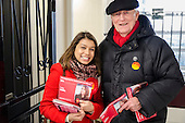 Tulip Siddiq with Neil Kinnock.  General election 2015: Tulip Siddiq, Labour candidate for Hampstead & Kilburn, the second most marginal seat in the UK, canvasses voters in Swiss Cottage.