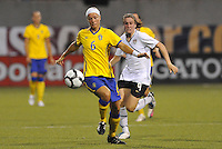 Sara Thunebro #6, Heather O'Reilly...USWNT tied Sweden 1-1 at Morrison Stadium, Omaha Nebraska.
