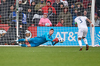 Bridgeview, IL - Saturday April 14, 2018: David Bingham during a regular season Major League Soccer (MLS) match between the Chicago Fire and the LA Galaxy at Toyota Park.  The LA Galaxy defeated the Chicago Fire by the score of 1-0.