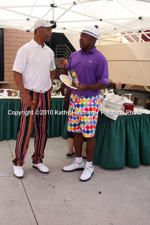 Marcus Allen & Vince Coleman.at the 4th Annual Jack Wagner Celebrity Golf Classic to benefit The Leukemia & Lymphoma Society Golf Tournament.Valencia Country Club.Valencia , CA.April 27, 2010.©2010 Kathy Hutchins / Hutchins Photo...