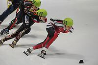 SHORTTRACK: DORDRECHT: Sportboulevard Dordrecht, 24-01-2015, ISU EK Shorttrack Ranking Races, Anna SEIDEL (GER | #121), Evita KRIEVANE (LAT | #133), ©foto Martin de Jong
