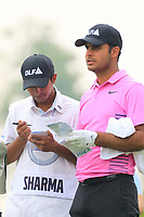 Subhankar Sharma (IND) in action during the final round of the Volvo China Open played at Topwin Golf and Country Club, Huairou, Beijing, China 26-29 April 2018.<br /> 29/04/2018.<br /> Picture: Golffile | Phil Inglis<br /> <br /> <br /> All photo usage must carry mandatory copyright credit (&copy; Golffile | Phil Inglis)