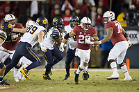 STANFORD, CA - November 18, 2017: Cameron Scarlett at Stanford Stadium. The Stanford Cardinal defeated Cal 17-14 to win its eighth straight Big Game.