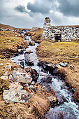 Shetland - a former mill at Binnie Knowes a few miles west of Walls on Shetland's west side - picture by Donald MacLeod - 09.03.14 – 07702 319 738 – clanmacleod@btinternet.com – www.donald-macleod.com