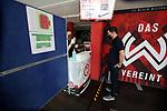 nph00250:  17.05.2020, Brita-Arena, Wiesbaden, GER, 2.FBL, Wehen-Wiesbaden vs VfB Stuttgart 17.05.2020 , <br /> Nur für journalistische Zwecke!<br /> <br /> Gemäß den Vorgaben der DFL Deutsche Fußball Liga ist es untersagt, in dem Stadion und/oder vom Spiel angefertigte Fotoaufnahmen in Form von Sequenzbildern und/oder videoähnlichen Fotostrecken zu verwerten bzw. verwerten zu lassen. <br /> <br /> Only for editorial use! <br /> <br /> DFL regulations prohibit any use of photographs as image sequences and/or quasi-video..<br /> im Bild<br /> Journalisten werden am Stadioneingang eingecheckt und kontrolliert <br /> Foto: Robin Rudel/Pressefoto Rudel/Pool/via nordphoto / Bratic