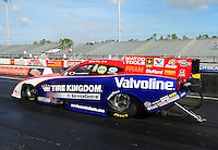 Jan. 17, 2012; Jupiter, FL, USA: NHRA funny car driver Johnny Gray during testing at the PRO Winter Warmup at Palm Beach International Raceway. Mandatory Credit: Mark J. Rebilas-