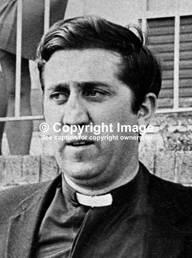 Rev Jackie Fitzsimmons, Roman Catholic parish priest, Lenadoon housing estate, Belfast, N Ireland, UK. 197207160378. Involved with Lenadoon Residents' Association in their negotiations with British Government.<br />