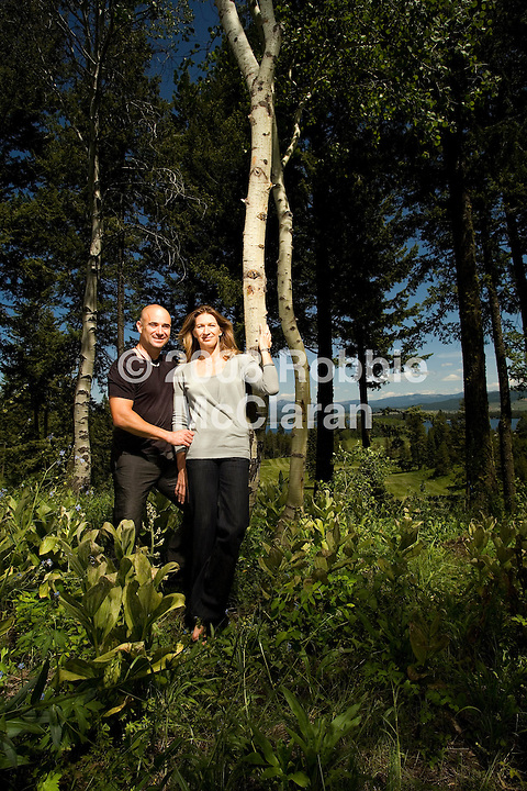 Andre Agassi and Steffi Graf photographed on the site of the Fairmont Tamarack at Tamarack Resort near McCall Idaho
