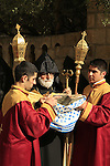 Israel, Jerusalem Old City, Easter, Armenian Orthodox Maundy Thursday ceremony