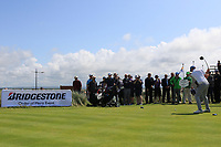 Robert Brazill (Naas) on the 1st tee during the Final of the AIG Irish Amateur Close Championship 2019 in Ballybunion Golf Club, Ballybunion, Co. Kerry on Wednesday 7th August 2019.<br /> <br /> Picture:  Thos Caffrey / www.golffile.ie<br /> <br /> All photos usage must carry mandatory copyright credit (© Golffile | Thos Caffrey)