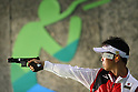 Teruyoshi Akiyama (JPN),<br /> AUGUST 13, 2016 - Shooting - Rifle : <br /> Men's 25m Rapid Fire Pistol Qualification <br /> at Olympic Shooting Centre <br /> during the Rio 2016 Olympic Games in Rio de Janeiro, Brazil. <br /> (Photo by Yusuke Nakanishi/AFLO SPORT)