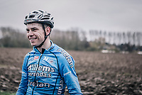 Wout Van Aert (BEL/Veranda's Willems-Crelan) looking relaxed  during the recon of the 116th Paris - Roubaix 2018
