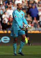 Heurelho Gomes of Watford in action during the Premier League match between Swansea City and Watford at The Liberty Stadium, Swansea, Wales, UK. Saturday 23 September 2017
