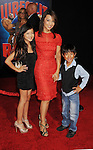 HOLLYWOOD, CA - OCTOBER 29: Ming-Na and children arrive at the Los Angeles premiere of 'Wreck-It Ralph' at the El Capitan Theatre on October 29, 2012 in Hollywood, California.