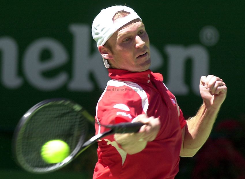 Australian Open Tennis 2003.22/01/2003.Rainer Schuettler v David Nalbandian .Rainer Schuettler