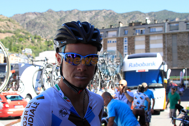 Nicolas Roche (IRL) AG2R La Mondiale at the sign on in Andorra before the start of Stage 9 of the 67th edition of La Vuelta running 194k from Andorra to Barcelona, Spain, 26th August 2012 (Photo by Eoin Clarke/NEWSFILE)
