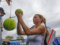 17th January 2019, Melbourne Park, Melbourne, Australia; Australian Open Tennis, day 4; Camilla Giorgi of Italy leave the pitch at  the end of  match agains ILA Swiatek of Poland