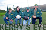 Over the Water RC all set to host another St. Stephens Day 7 A-side soccer blitz in the Cahersiveen Sports Centre for more information contact Bridie O'Shea on 087 2777070, pictured here l-r; Batt Moriarty, Johnny O'Shea, Connie Moriarty & D.J.O'Connor.